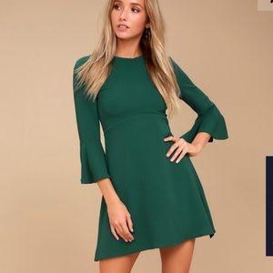 Lulu's Center of attention bell sleeve dress
